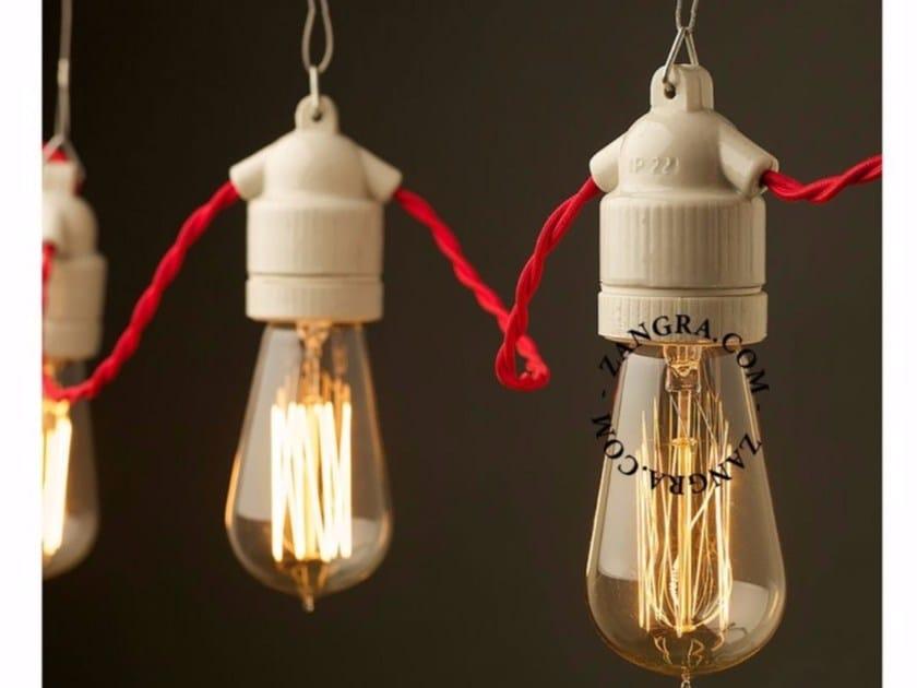 Lampada a sospensione a luce diretta in porcellana SOCKET 019 | Lampada a sospensione - ZANGRA
