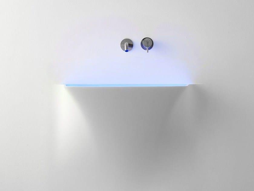Corian® washbasin with light SOFFIO - Antonio Lupi Design®