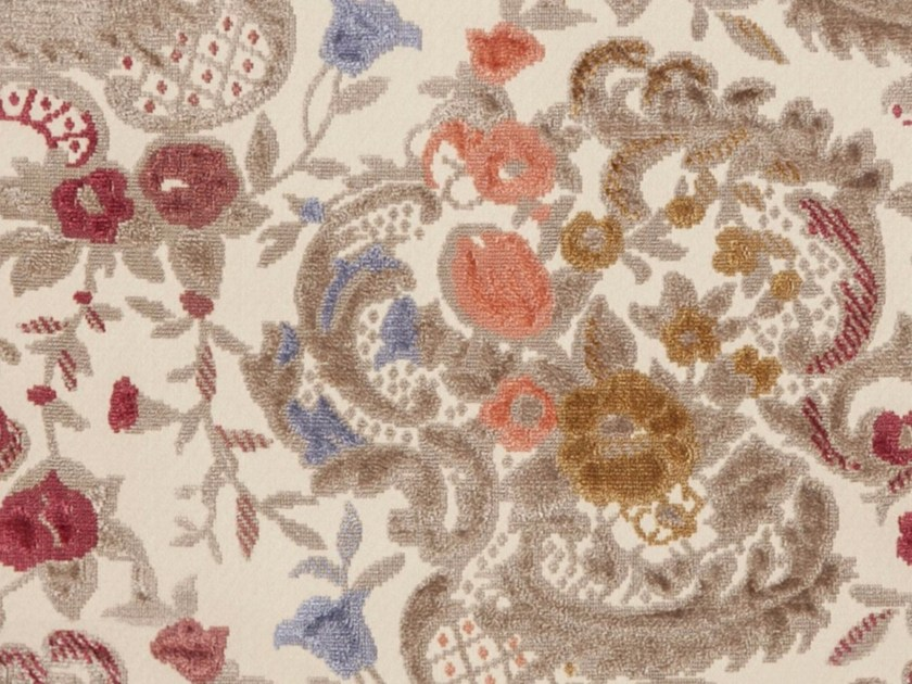 Synthetic fibre fabric with floral pattern SOFIA - Gancedo