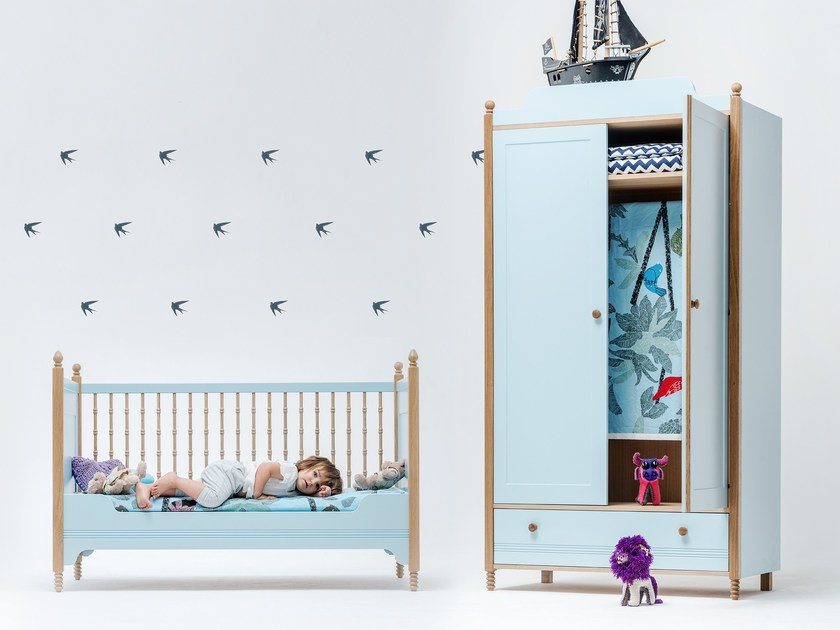 Lacquered wardrobe for kids' bedrooms SOFIA WARDROBE - ST FURNITURE
