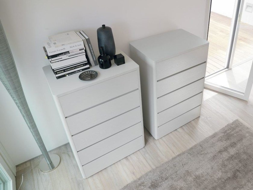 Free standing wooden chest of drawers SOFT by Caccaro