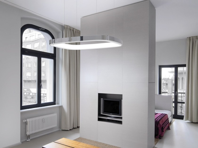 LED RGB aluminium pendant lamp SOFT SQUARE by Sattler