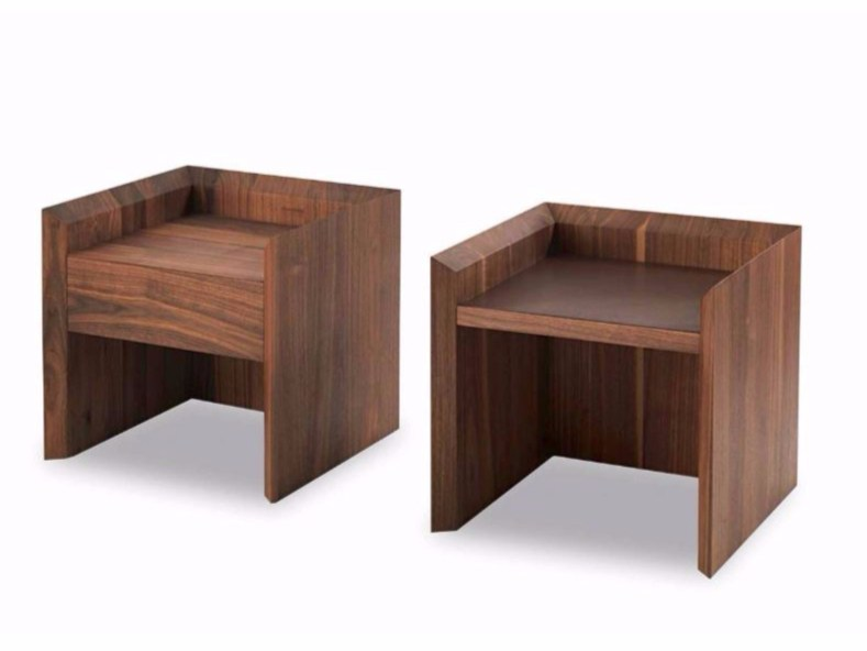 Rectangular bedside table with drawers SOFTWOOD | Bedside table - Riva 1920