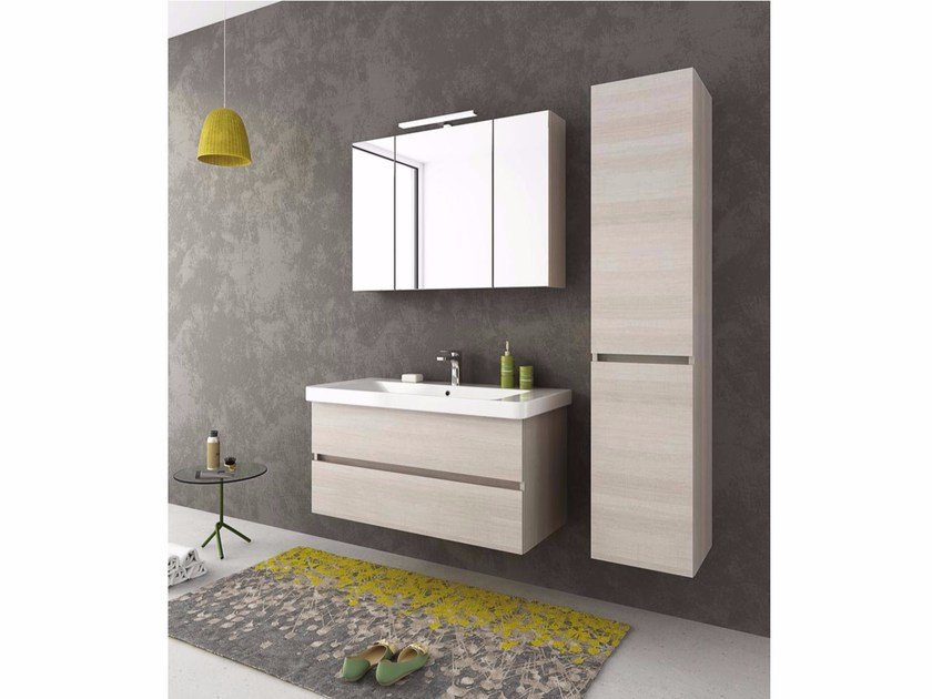 Wall-mounted vanity unit with drawers SOHO S8 by LEGNOBAGNO