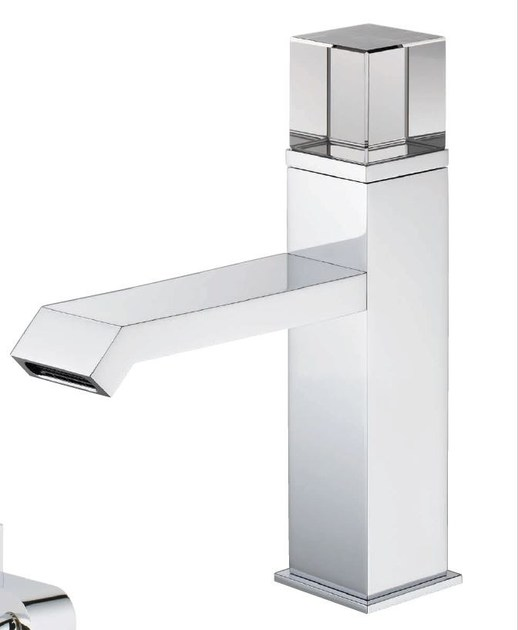 Contemporary style chrome-plated metal thermostatic shower mixer with polished finishing with plate SOHO | Thermostatic shower mixer - INTERCONTACT