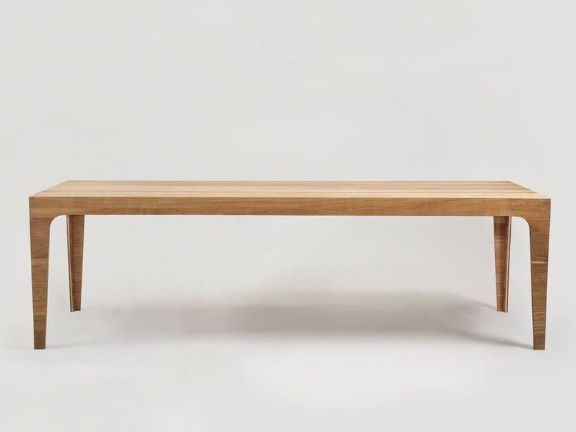Rectangular wooden table SOLID - MORGEN Interiors