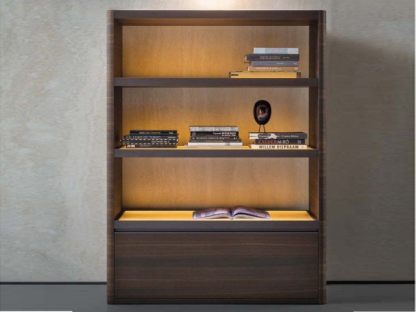 Walnut highboard SOLIDA | Highboard - Natevo