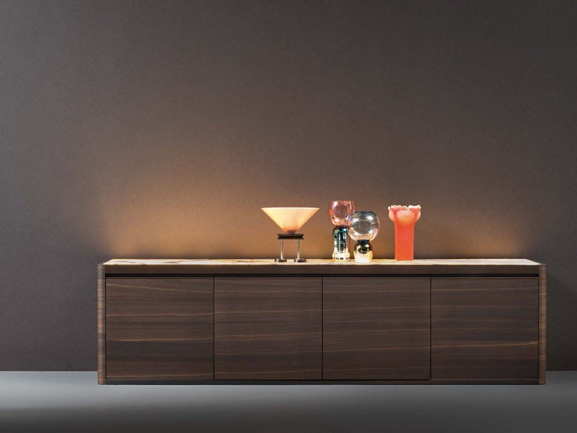 Sideboard with integrated lighting SOLIDA | Sideboard - Natevo