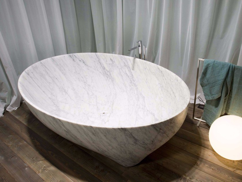 Carrara marble bathtub SOLIDEA | Carrara marble bathtub - Antonio Lupi Design®