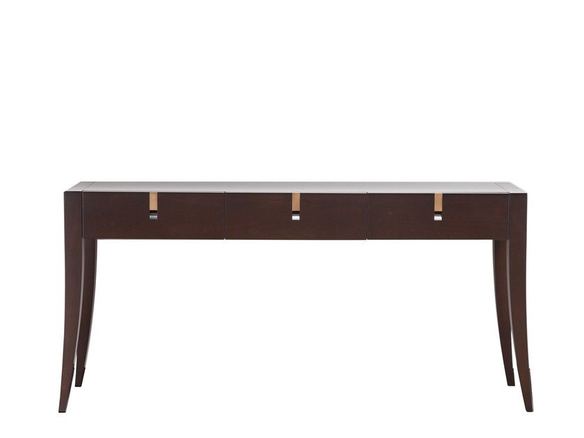 Rectangular wooden console table with drawers JUBILEE | Console table - SELVA