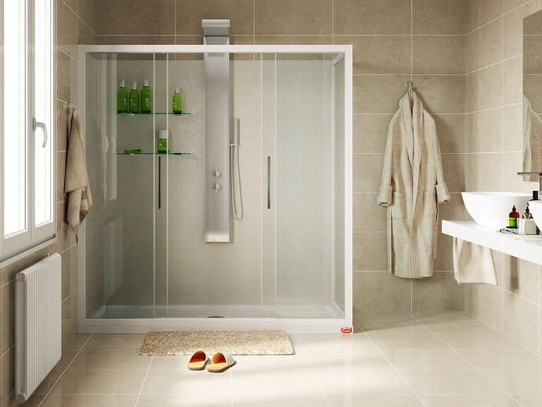 Box doccia con apertura centrale a due ante scorrevoli - Remail vasche da bagno ...