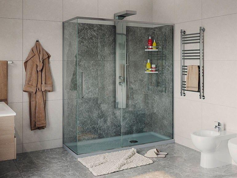 Box doccia a due ante una scorrevole soluzione oceania - Cabine doccia multifunzione leroy merlin ...
