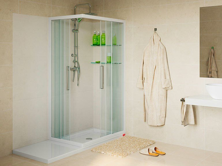 Corner shower cabin SOLUZIONE BALZETTO by Remail by G.D.L.