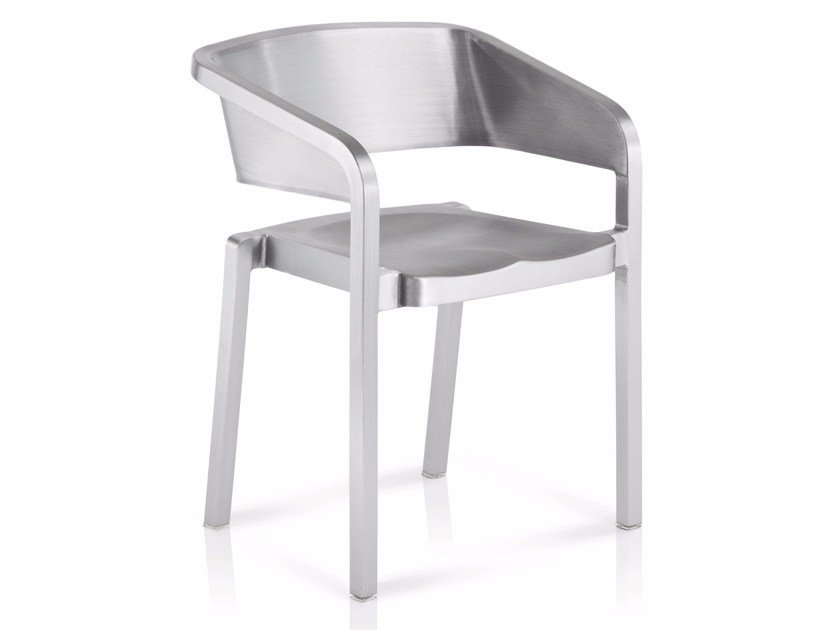 Stackable aluminium chair SOSO | Stackable chair by Emeco