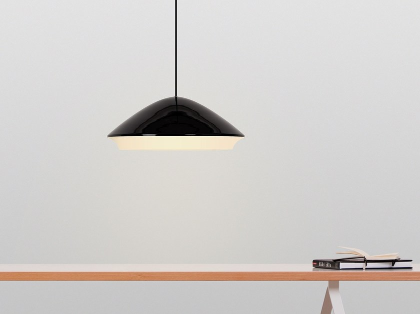 Glass and steel pendant lamp SOUBOU by TEO
