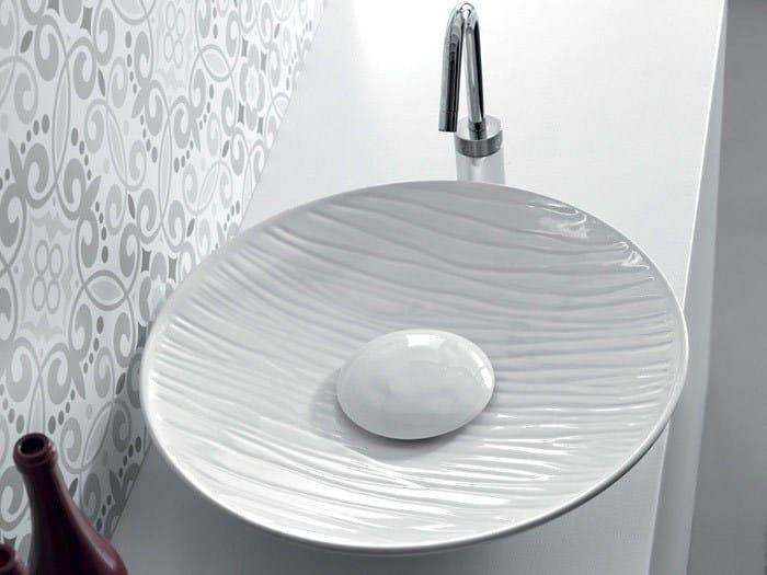 Countertop round ceramic washbasin SOUL | Countertop washbasin - Hidra Ceramica
