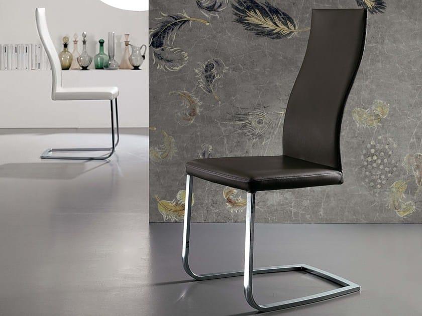 Sled base leather chair SOUL - Ozzio Italia