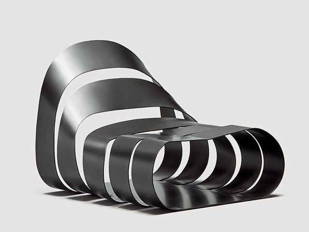 Metal armchair SOUL by da a