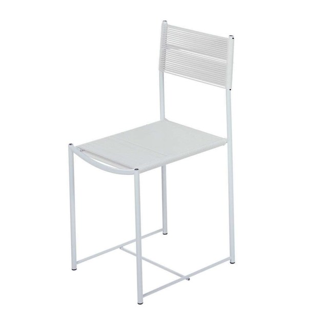 Sedia in acciaio e pvc spaghetti chair 101 alias for Sedie pvc design