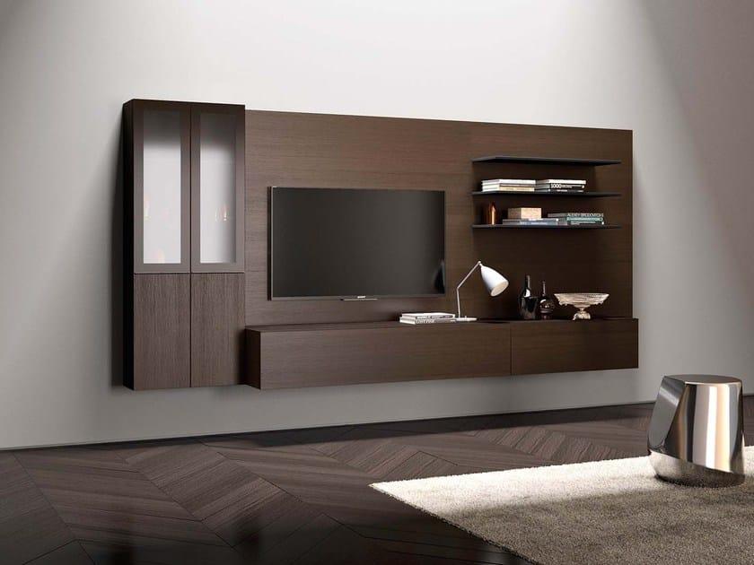 Parete attrezzata componibile fissata a muro modulare SPAZIO | MOD. S433 - PIANCA