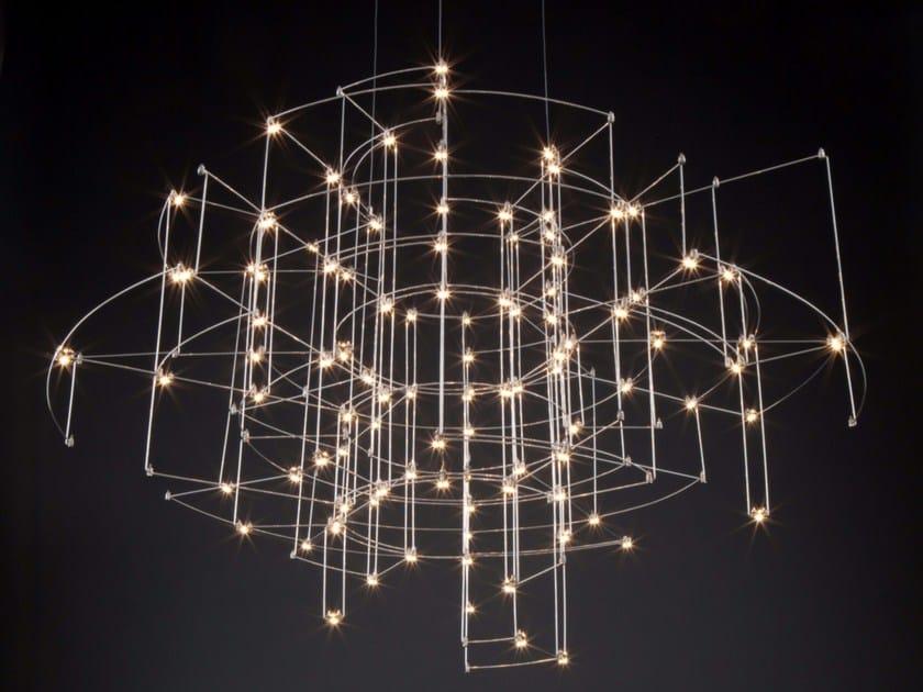 Lampada a sospensione in nichel SPECTRE by Quasar