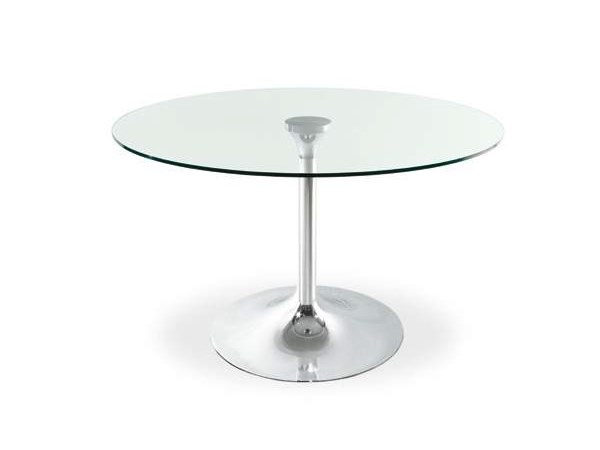 Round glass table SPHERIC - CREO Kitchens by Lube