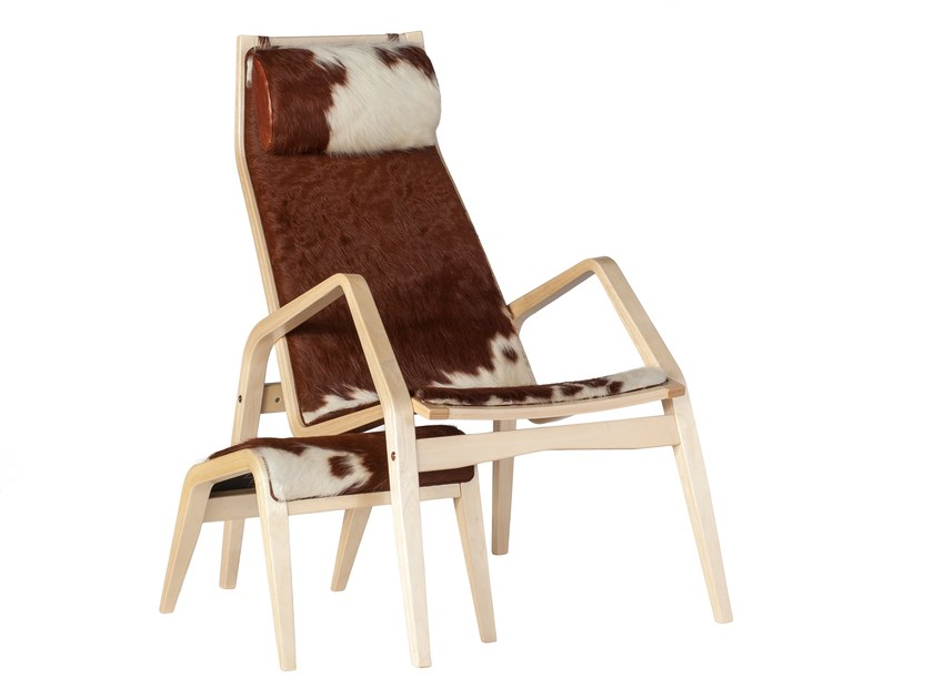 Classic style upholstered leather guest chair with armrests SPIDER | Easy chair - Tarmeko