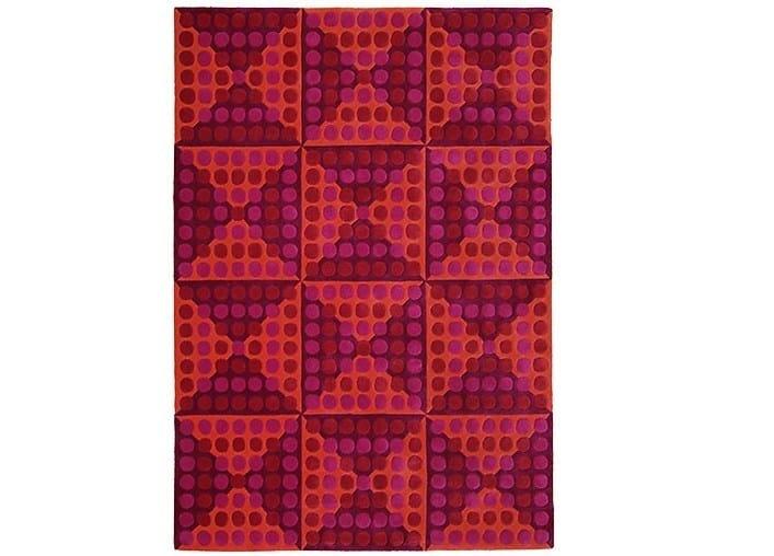 Wool rug with geometric shapes SPIEGEL - Verpan