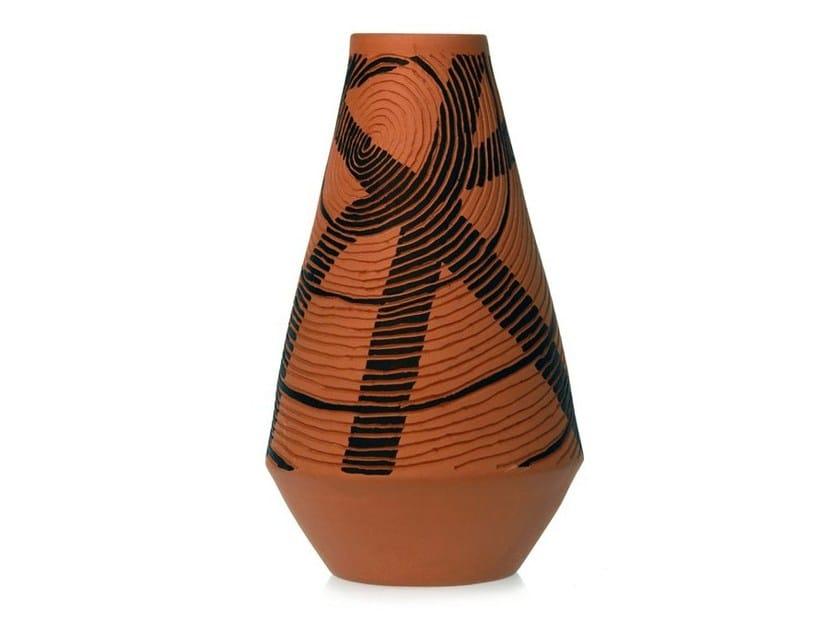 Terracotta vase SPIRAL IV - Kiasmo