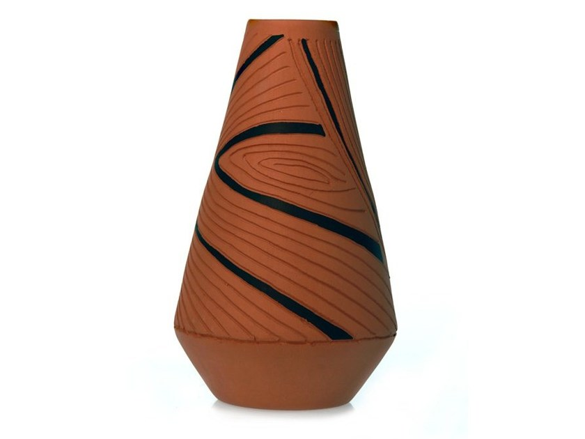 Terracotta vase SPIRAL V - Kiasmo