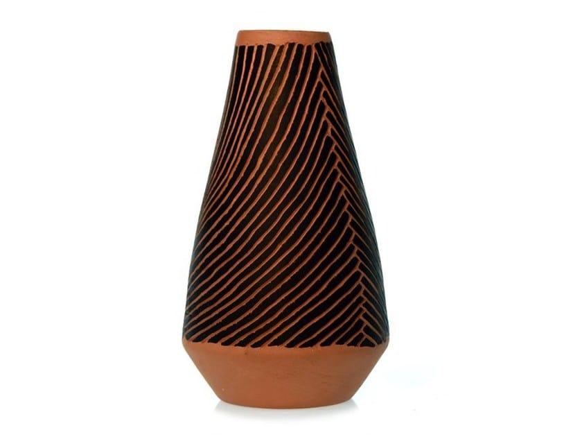 Terracotta vase SPIRAL VI - Kiasmo