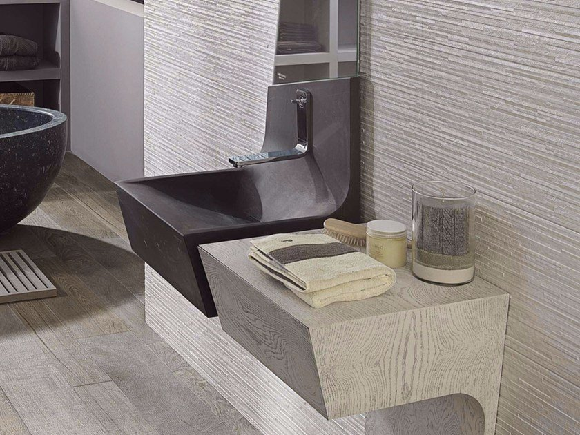 Wall-mounted natural stone washbasin SPIRIT | Wall-mounted washbasin - L'Antic Colonial