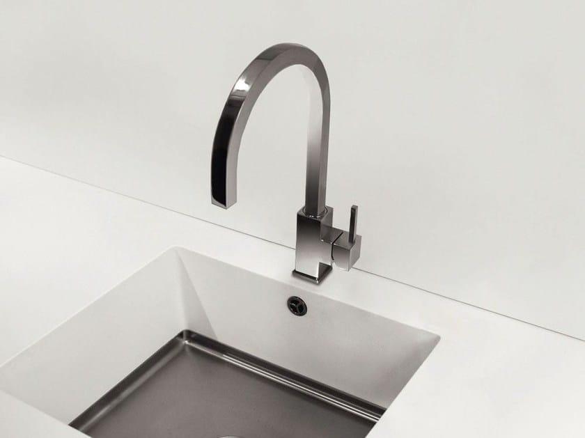 Countertop 1 hole stainless steel kitchen mixer tap SPIRIT SP-110 - Nivito