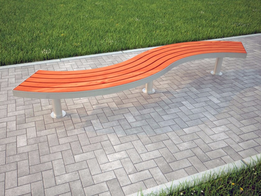 Curved backless Bench SPLINE TREE | Backless Bench - Factory Street Furniture