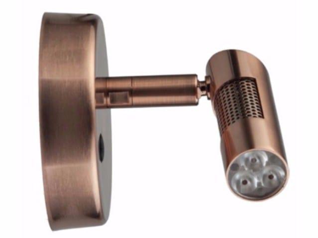 LED wall-mounted adjustable spotlight SPOT PATÈRE POWER 5 - TEKNI-LED