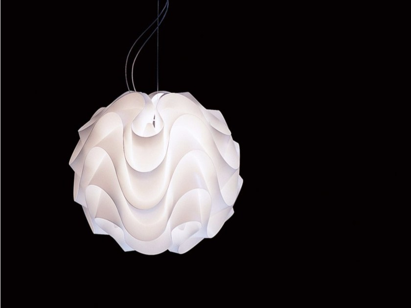 PVC and metal pendant lamp SPUMONE S - DAVIDE GROPPI