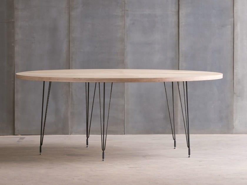 Custom birch table SPUTNIK MTM - Heerenhuis