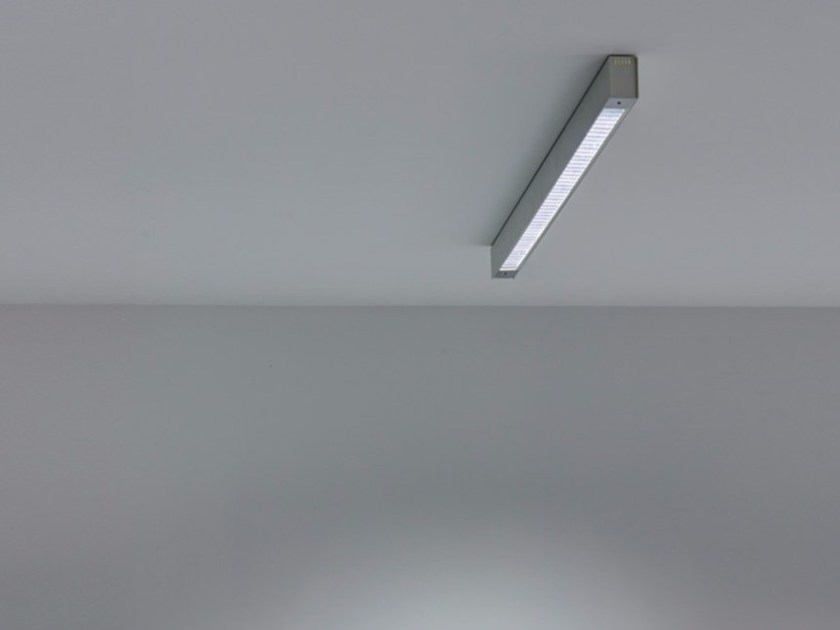 Fluorescent methacrylate and metal ceiling lamp SPY | Ceiling lamp - DAVIDE GROPPI
