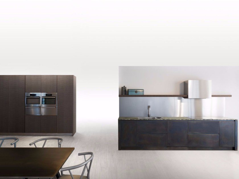 Linear kitchen SQUARE BURNISHED BLACK - Xera by Arex