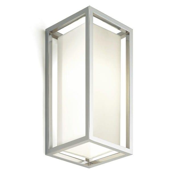 Direct light chromed brass wall light SQUARE | Chromed brass wall light - MARIONI
