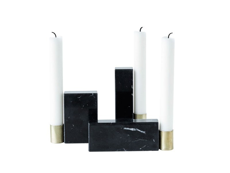 Marble candle holder SQUARE by Kristina Dam Studio