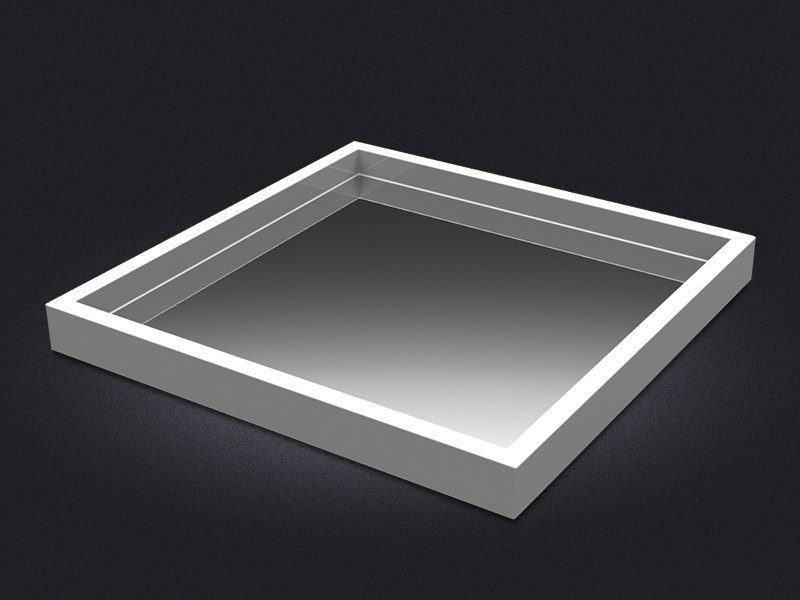 Square resin tray SQUARE LARGE MIRROR | Tray - Vallvé Bathroom Boutique