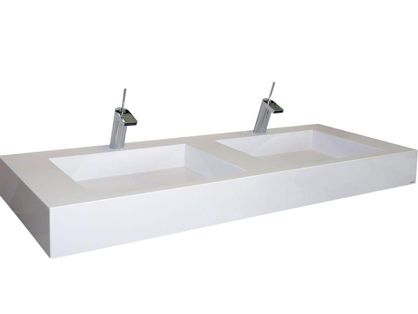 Double Pietraluce® washbasin SQUARE | Double washbasin - Technova