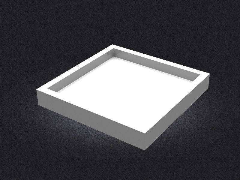 Square resin tray SQUARE MEDIUM | Tray - Vallvé Bathroom Boutique