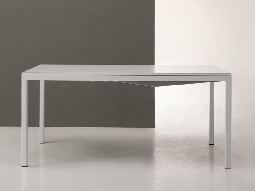 Table with metal structure SQUARE | Extending table - De Rosso