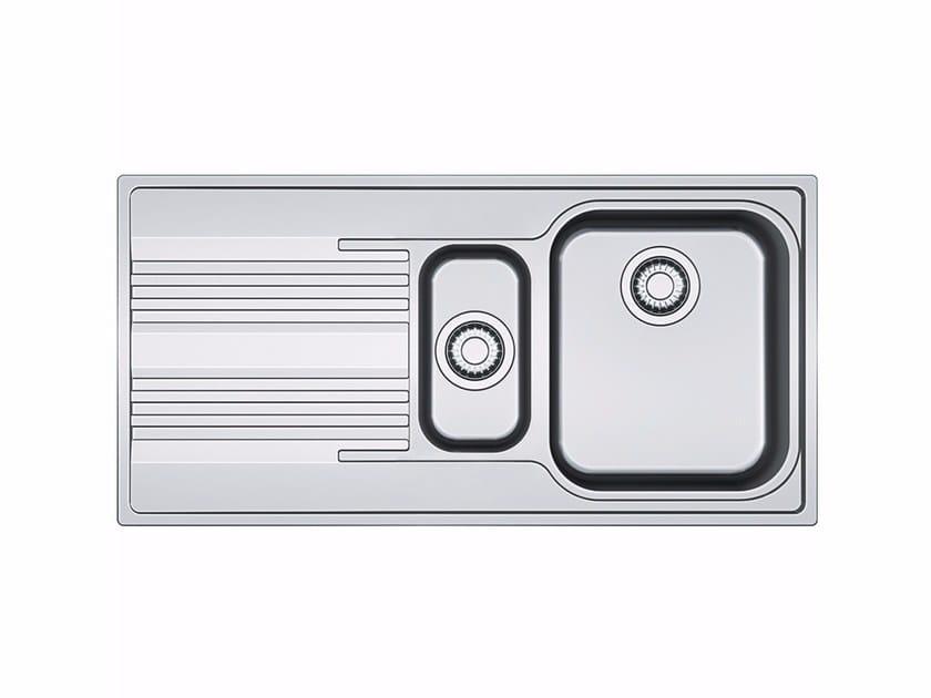 Lavello da incasso in acciaio inox con sgocciolatoio SRX 651 by FRANKE