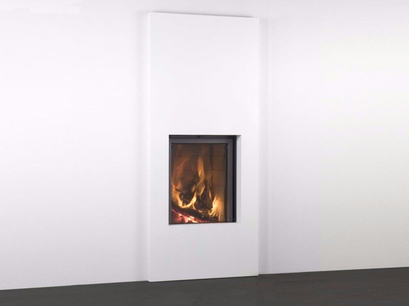 Wood-burning built-in glass and steel fireplace STÛV 21-65H - Stûv