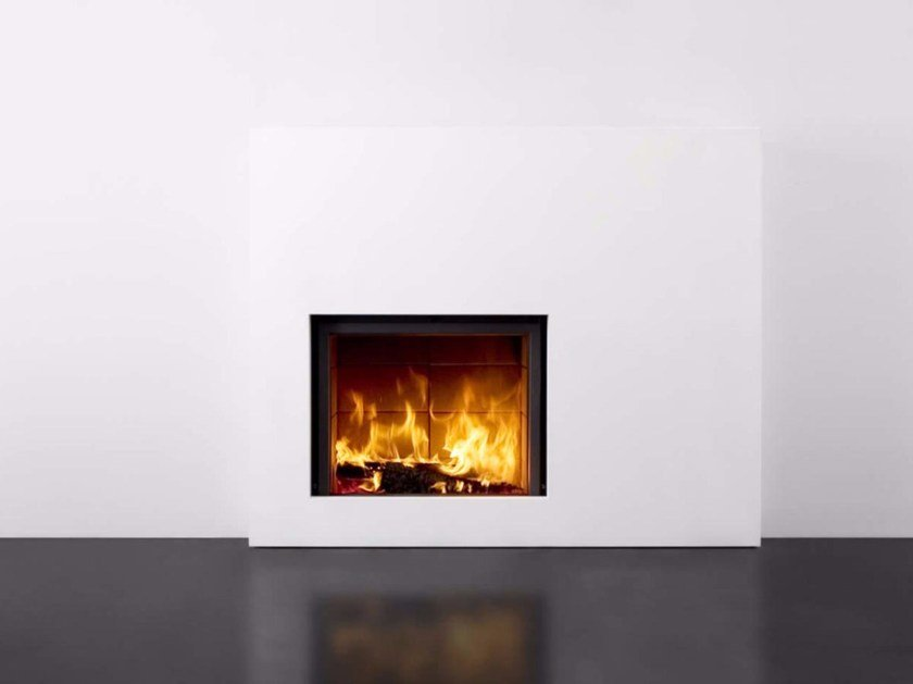 Built-in wall-mounted glass and steel fireplace STÛV 21-85 SF2 - Stûv