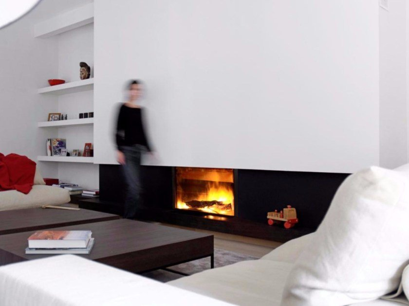 Wood-burning built-in glass and steel fireplace STÛV 21-95 - Stûv