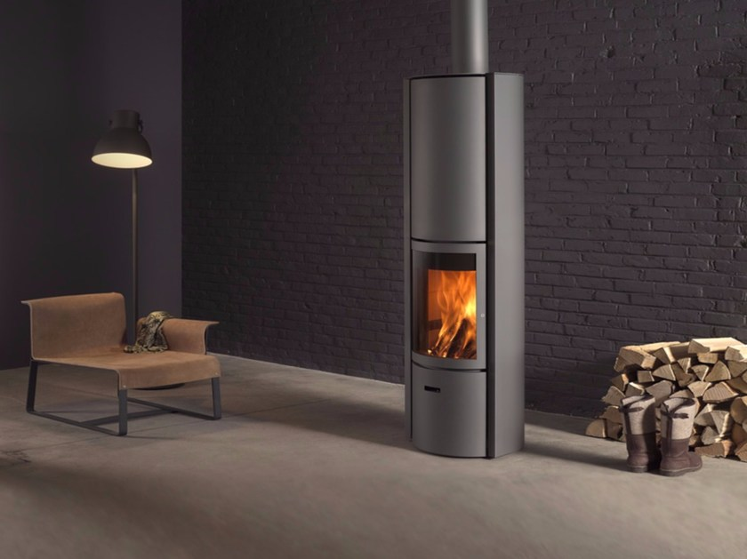 Wood-burning swivel stainless steel stove STÛV 30-COMPACT - Stûv